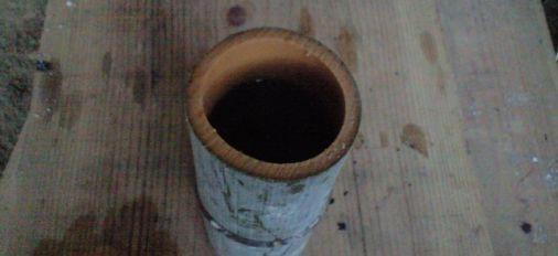 大分市竹中の森で天然竹コップを試す