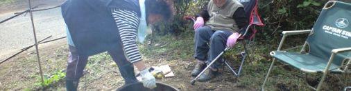 大分産のミカンカボスと椎茸を食す