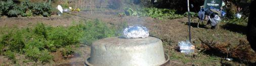 畑に焼き場を作る