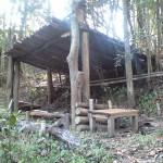 自然を眺める小屋