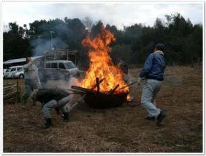 無煙炭化器の火力