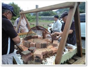 ドーム型のピザ窯づくり