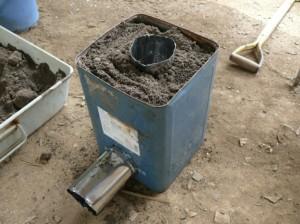 断熱材用に灰土を使用
