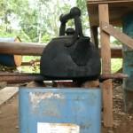 ロケットストーブで湯を沸かす