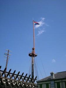 長崎出島のオランダ国旗