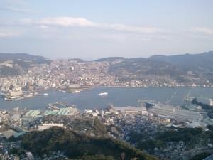 長崎の稲佐山の眺め