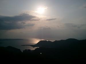 長崎稲佐山からの太陽